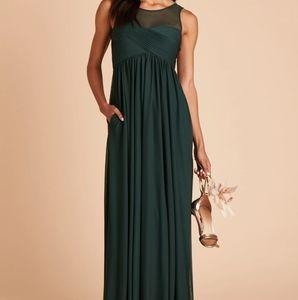Birdy Grey S Ryan Emerald Maxi Bridesmaid Dress
